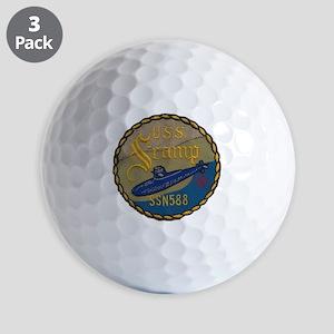 uss scamp patch transparent Golf Balls