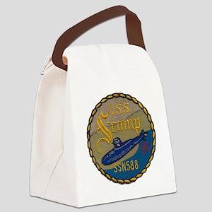uss scamp patch transparent Canvas Lunch Bag