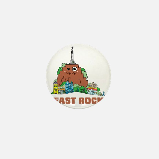 East Rock Mini Button