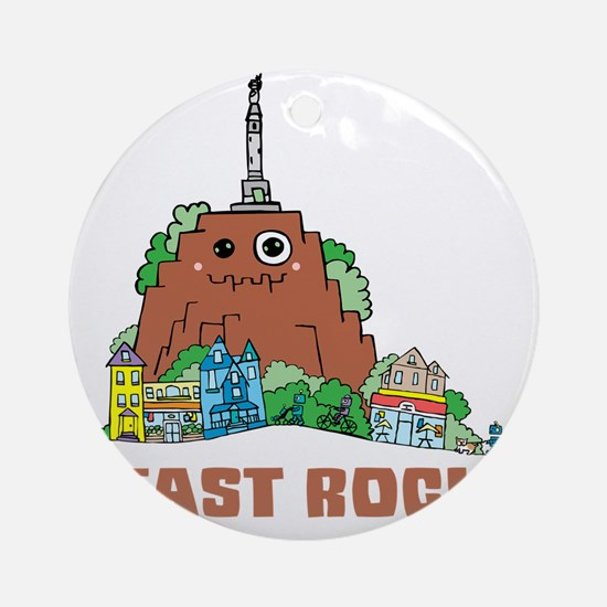 East Rock Round Ornament