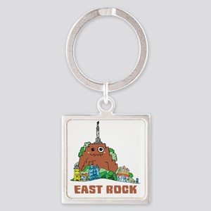 East Rock Square Keychain