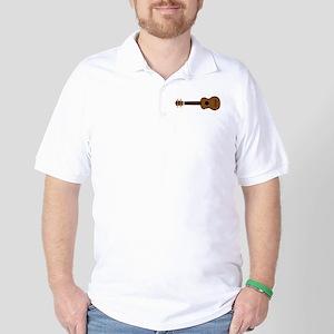 Ukulele Playing Golf Shirt
