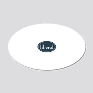 liberal 20x12 Oval Wall Decal