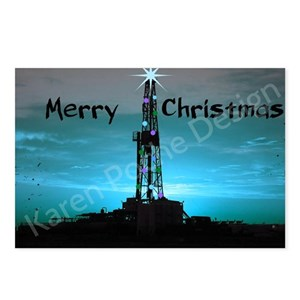 Oilfield oil rig christmas holiday offshore postcards cafepress reheart Image collections