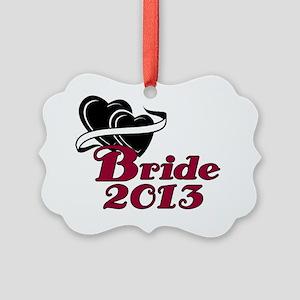Double Hearts Bride 2013 Picture Ornament