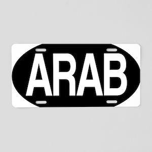 Arab black for orange Aluminum License Plate