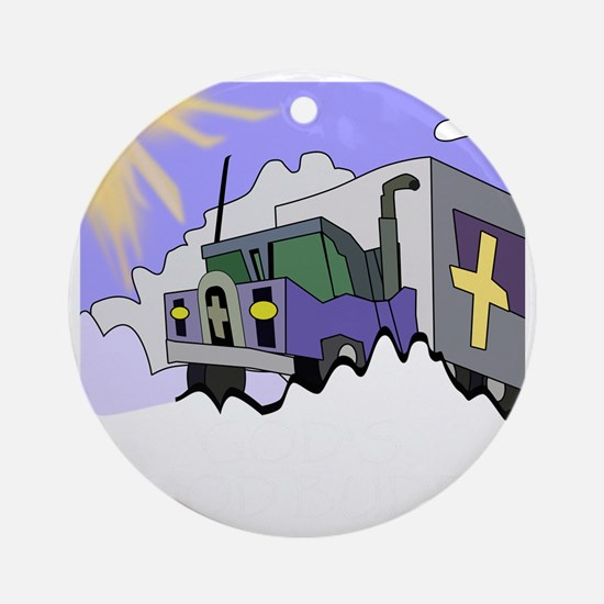 Gods Good Buddy (TS-B) Round Ornament