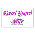 Coast Guard Wife Rectangle Sticker