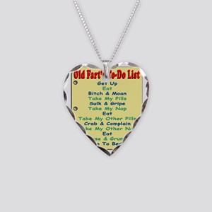 OldFartShort12x14YellowTRANS- Necklace Heart Charm