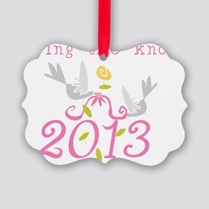 Tying the Knot 2013 Picture Ornament