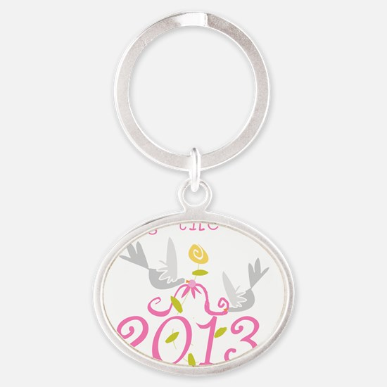 Tying the Knot 2013 Oval Keychain