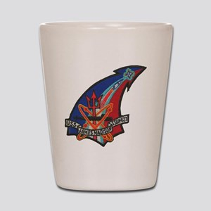 uss james madison patch transparent Shot Glass