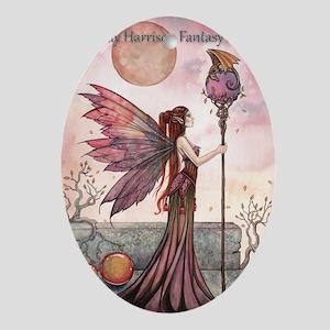 Molly Harrison Fantasy Art Calendar Oval Ornament