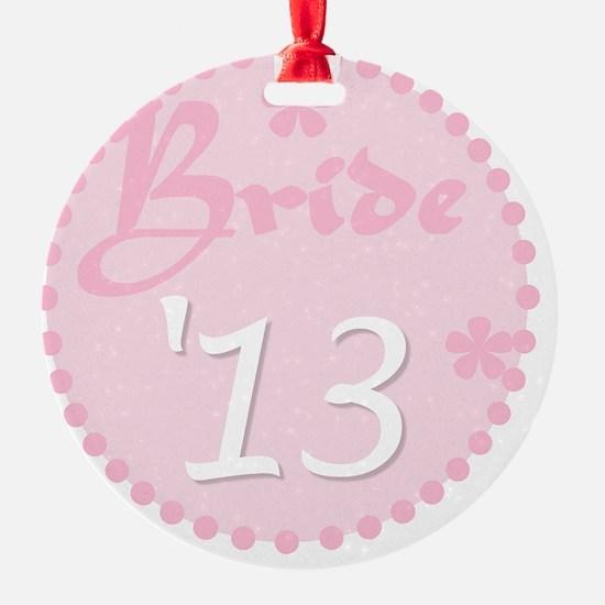 Pink Circle Bride 13 Ornament