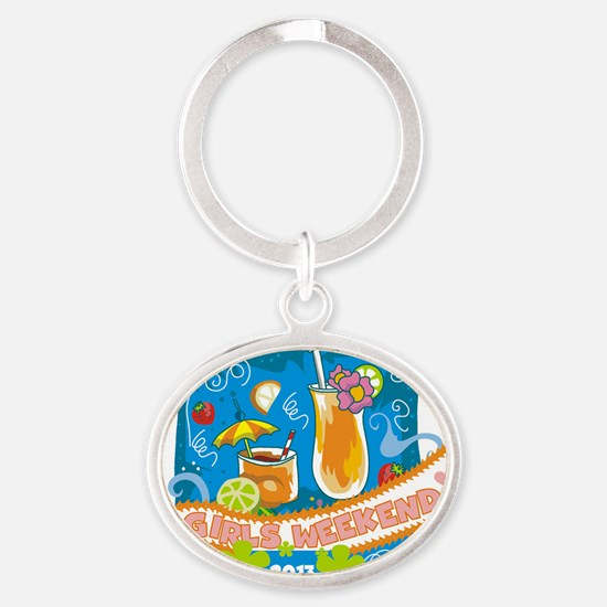Tropical Girls Weekend 2013 Oval Keychain