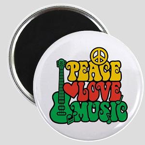 Reggae Peace Love Music Magnet