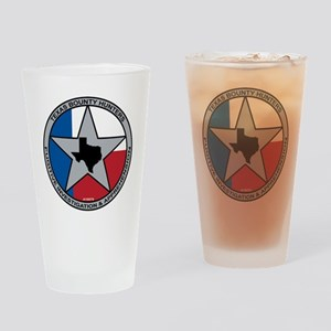 Texas Bounty Hunters Logo Drinking Glass