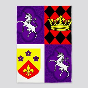 Medieval Heraldry 5'x7'Area Rug