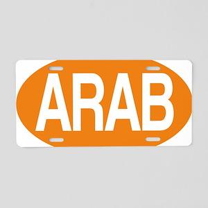 Arab orange for black Aluminum License Plate