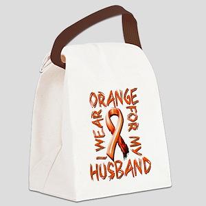 I Wear Orange for my Husband Canvas Lunch Bag