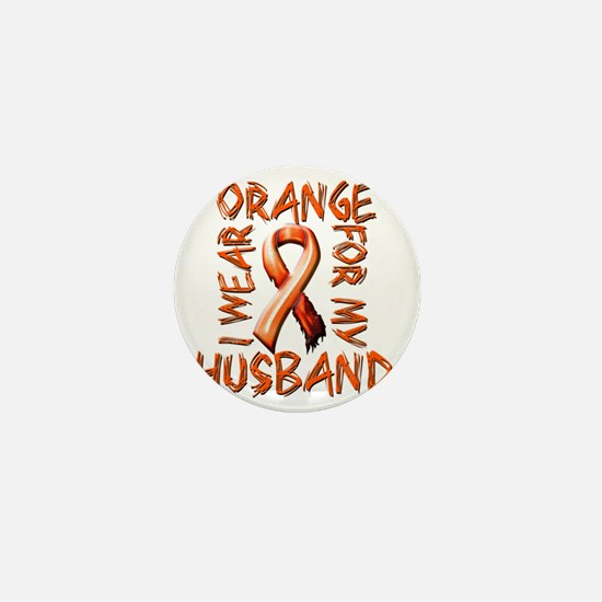 I Wear Orange for my Husband Mini Button