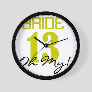 Bride 13 Oh My Green Wall Clock