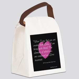 Love Incarnate Canvas Lunch Bag