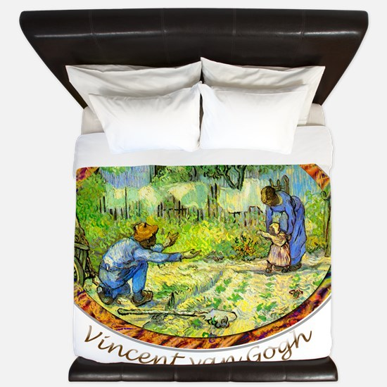 The First Step by Vincent van Gogh. King Duvet