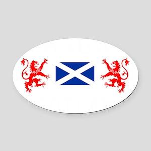 Glasgow Sco White for dark Oval Car Magnet
