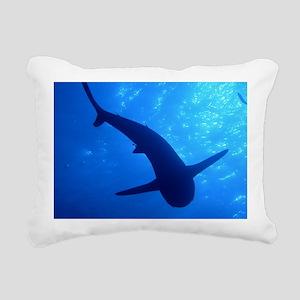 Caribbean Reef Shark Rectangular Canvas Pillow