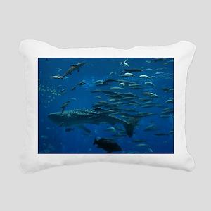 Whale Shark Rectangular Canvas Pillow