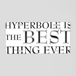 HYPERBOLE1 Aluminum License Plate