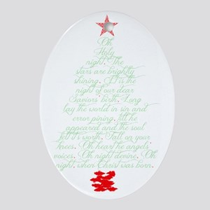 Oh holy night tree Oval Ornament