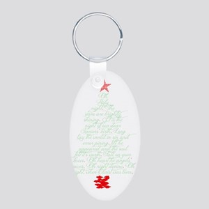 Oh holy night tree Aluminum Oval Keychain