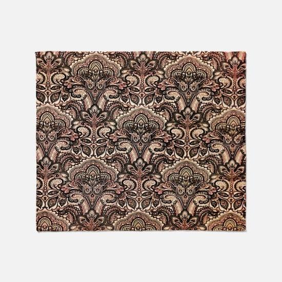 Haunted Victorian Wallpaper Throw Blanket
