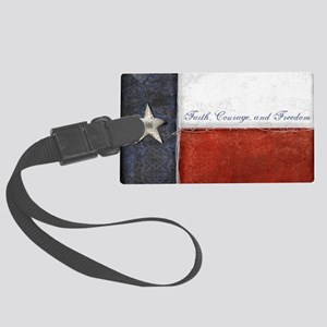 Texas Flag Large Luggage Tag