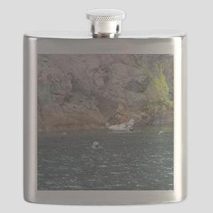 Cape Breton Island Seals Large Print Flask