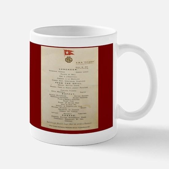 TitanicMenuTeapot Mug