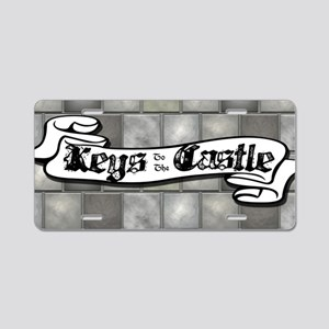 Medieval Keys to the Castle Aluminum License Plate