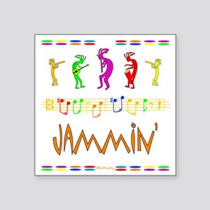 "Jammin Square Sticker 3"" x 3"""
