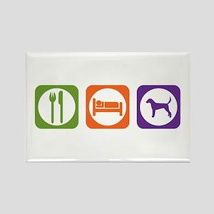Eat Sleep Foxhound Rectangle Magnet
