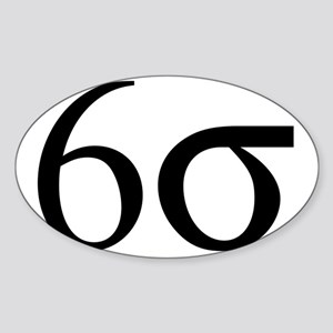 Six_Sigma Sticker (Oval)