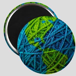 Global Ball of Yarn Magnet