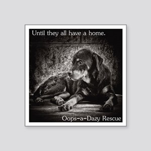 """Until they all have a home Square Sticker 3"""" x 3"""""""