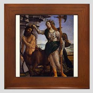 Pallas and the Centaur - Botticelli Framed Tile