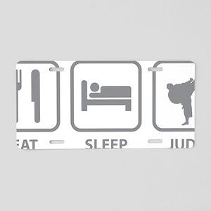 EatSleepJudo01C Aluminum License Plate