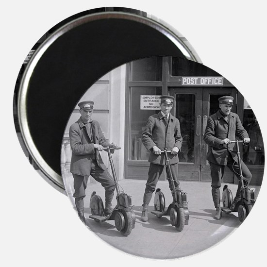 Vintage Postmen On Scooters Magnet