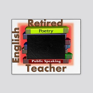 Retired English Teacher Book Stack Picture Frame