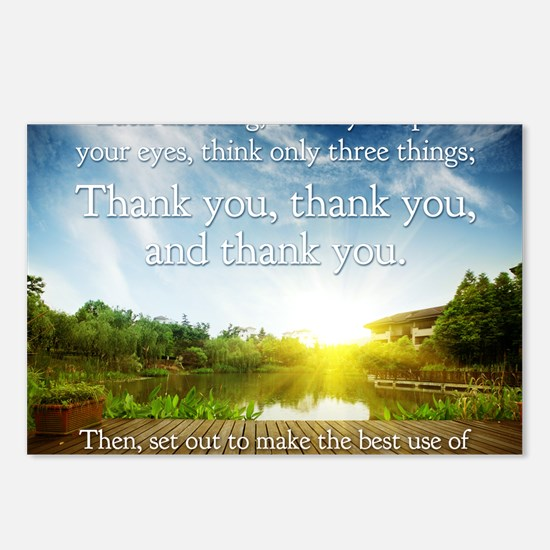 Thank you, thank you, tha Postcards (Package of 8)
