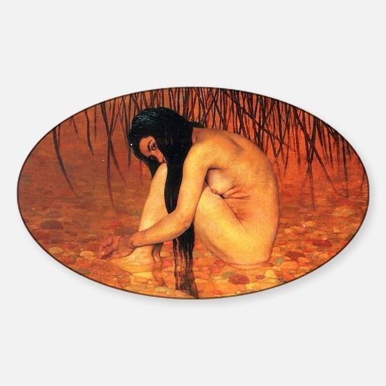 Felix Vallotton Bathing Sticker (Oval)
